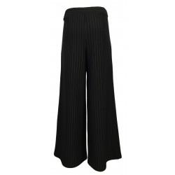 THIPO pantalone donna nero gessato jersey pesante art OVER MADE IN ITALY