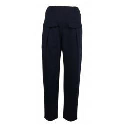THIPO blue heavy jersey woman trousers art BASCHINA MADE IN ITALY