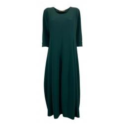 MOUSSE woman 3/4 sleeve green balloon dress art AM609C