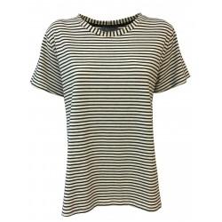 NEIRAMI maxi t-shirt woman lines half sleeve art TS1153-20 MADE IN ITALY