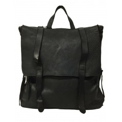 MANUFATTO ITALIANO 1956 black backpack art 224 100% leather MADE IN ITALY