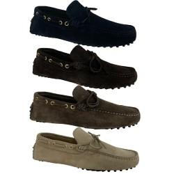UPPER CLASS moccasin man unlined reversed calf 3105 / INS CASTORO MADE IN ITALY