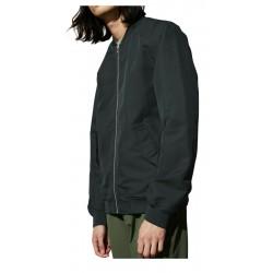 ELVINE giacca uomo corta stile BOMBER mod. REX chiusura zip, collo e polsini in maglia