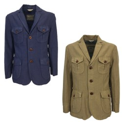 CAPALBIO man jacket lined art G534 T45 in cotton and linen MADE IN ITALY