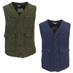 CAPALBIO man lined vest art V532 T45 75% cotton 25% linen MADE IN ITALY