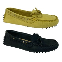 UPPER CLASS moccasin woman unlined nubuck 103 / INS NABUK 100% leather MADE IN ITALY