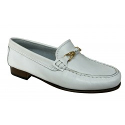 UPPER CLASS moccasin woman unlined white 600/20 / INS CALF 100% leather MADE IN ITALY