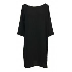 TADASHI black woman dress 3/4 sleeve art TPE171069 MADE IN ITALY