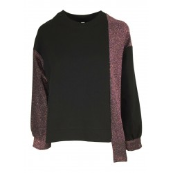 BE LIMOUSINE woman black heavy jersey sweater art LF055L MADE IN ITALY