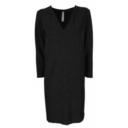 BE LIMOUSINE woman long sleeve black lurex dress art LY051L MADE IN ITALY