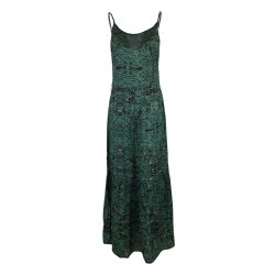 MAISON HOTEL woman dress military fantasy straps / sea green unlined art NAOMI