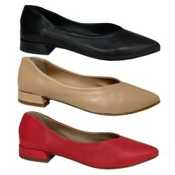 MALLY scarpa donna a punta con tacco rivestito cm 2 mod 6816 MADE IN ITALY