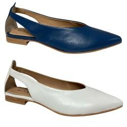 MALLY scarpa donna a punta aperta lato art 6817 100% pelle MADE IN ITALY