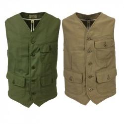 MANIFATTURA CECCARELLI green man vest mod 6910 DE 100% cotton MADE IN ITALY