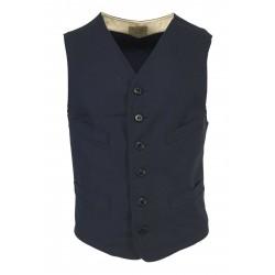 MANIFATTURA CECCARELLI man blue vest mod 6914 DE 100% cotton MADE IN ITALY
