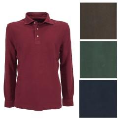 DELLA CIANA men's long sleeve piquet polo shirt art 41/240 A 100% cotton MADE IN ITALY