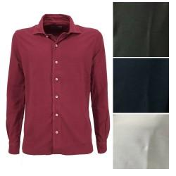 DELLA CIANA man shirt long sleeve piquet art 41/250 A 100% cotton MADE IN ITALY