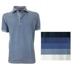 DELLA CIANA men's half-sleeved piquet polo shirt 41 / 201A 100% cotton MADE IN ITALY