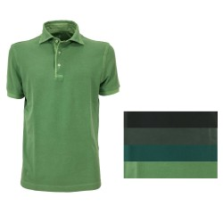 DELLA CIANA men's half-sleeved piquet polo shirt 41 / 201A 100% cotton MADE IN ITALY - 3