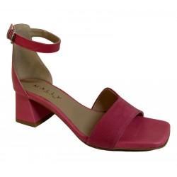 MALLY sandalo donna fuxia chiaro camoscio/pelle art 7087 100% pelle MADE IN ITALY