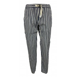 WHITE SAND blue / cream / red striped man trousers art SU66 GREG 316 MADE IN ITALY