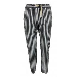 WHITE SAND pantalone uomo righe blu/panna/rosso art SU66 GREG 316 MADE IN ITALY