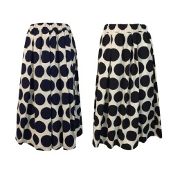 MYLAB skirt with elastic large polka dots art Q02G172 / 1161 100% cotton MADE IN ITALY