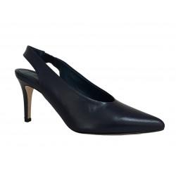 CRISTINA MILLOTTI scarpa donna blu art 3007 100% pelle MADE IN ITALY
