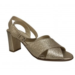 CRISTINA MILLOTTI sandalo donna oro art 283 100% pelle MADE IN ITALY