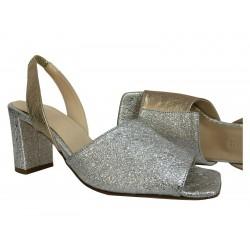 CRISTINA MILLOTTI sandalo donna argento/oro art 282 MADE IN ITALY