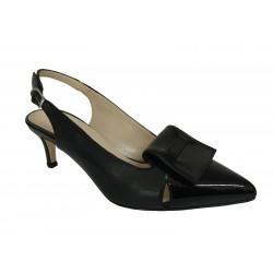 CRISTINA MILLOTTI scarpa donna nero/vernice art AR7074 100% pelle MADE IN ITALY