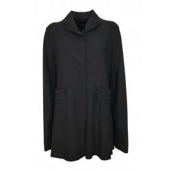 TADASHI black light fleece woman jacket art TPE216049 MADE IN ITALY