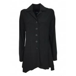 TADASHI long asymmetric woman jacket black technical fabric TPE216045 MADE IN ITALY