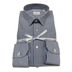 BRANCACCIO man shirt blue lines micro green designs art SA00B0 SLIM ALBERT DBB0103