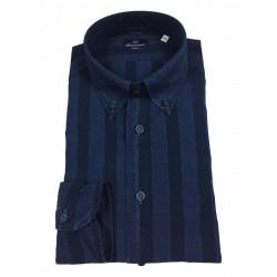 BRANCACCIO man striped denim shirt GN00B3 GOLD NICOLA DBR1911 100% cotton