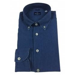 BRANCACCIO man denim shirt GN00B2 GOLD NICOLA DBR1801