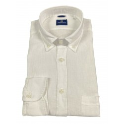 BRANCACCIO white man shirt GNOOK1 GOLD NICOLA DBR5300 100% linen