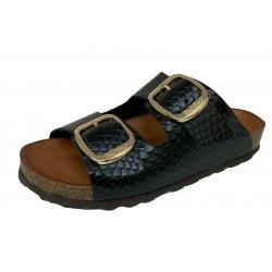 BIO BIO FOOTWEAR sandalo DONNA aperto nero BIO-211-75895 WEKY 100% VEGAN APPROVED