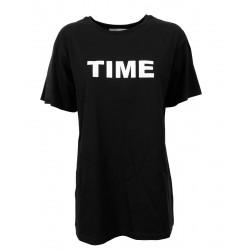 LIVIANA CONTI black maxi t-shirt art L1SW20 100% cotton
