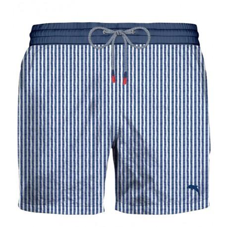 ZEYBRA man costume boxer bluette stripes AUB074 RIGA SEERSU MADE IN ITALY