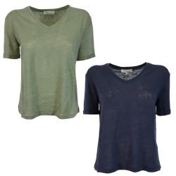 HUMILITY 1949 HA-TS-HACINA woman t-shirt 100% linen
