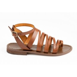 ANTICHI ROMANI woman sandals flats leather art 802 100% cowhide leather MADE IN ITALY