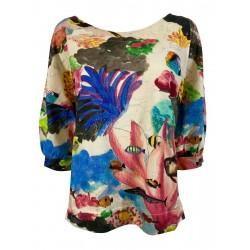ALDO MARTINS fantasy woman shirt art 8702 BACAN cotton MADE IN SPAIN
