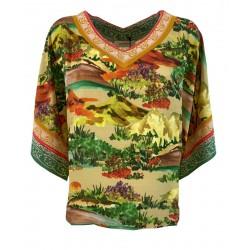 ALDO MARTINS fantasy woman blouse art 8733 FRASER 100% viscose MADE IN SPAIN
