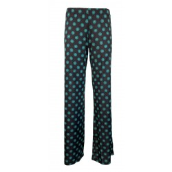 FEELING by Justmine dark / emerald fantasy woman trousers E2624682 ETHNO CHIC MADE IN ITALY