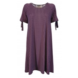 FEELING by JUSTMINE purple fantasy flared woman dress E2708688 MADE IN ITALY
