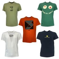 BottegaChilometriZero t-shirt uomo mezza manica cotone leggero con stampa art DU21341 100% cotone MADE IN ITALY