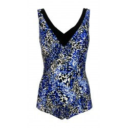 FASHY costume donna intero coppa C fantasia azzurro/nero art 22994 01 C MADE IN ITALY