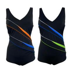 FASHY costume donna intero coppa C nero inserti color art 2287 C tessuto MADE IN ITALY