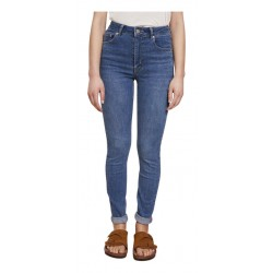 LAB DIP jeans donna denim chiaro vita alta con zip skinny art ELLIOT